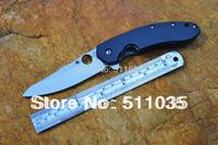Spyderco Brad Southard folder C156GPBN  folding knife CTS-204P with stone washed Titanium alloy (TC4) and carbon fiber handle