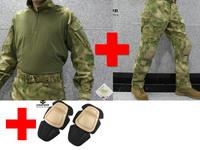 Emerson bdu G3 Combat uniform suit & Pants with knee pads Emerson BDU Military Army uniform AT/FG EM8576 EM7030