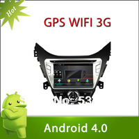 Pure Android 4.0 HYUNDAI Elantra / Avante / I35 2011-2013 Car DVD GPS Player Capacitive and Multi-touch Screen 3G Wifi 8G Flash