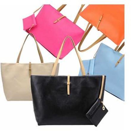 Free shipping 2014 women commuter belt buckle big bag wild colorful shoulder bag fashion shopping handbag drop shipping BS124(China (Mainland))