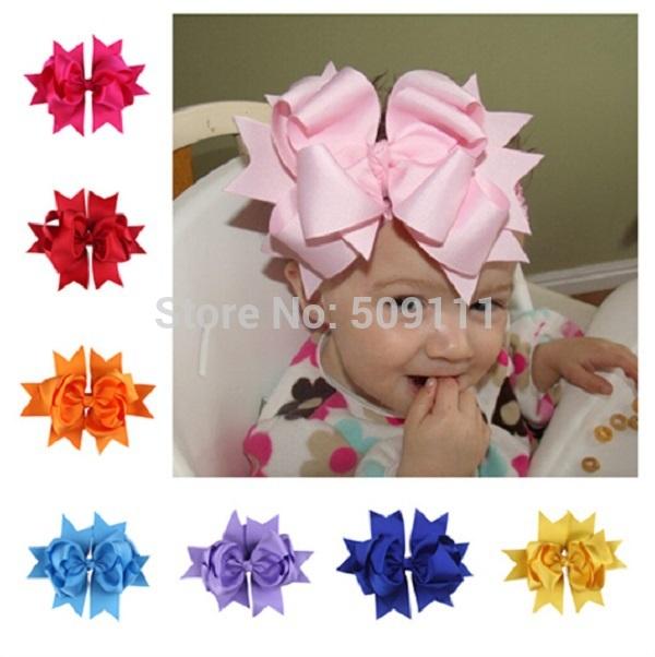 Christmas hair bow Girl Hair bow Big bow Holiday Headband Hair clip Ribbon hairbands 24pcs HB178(China (Mainland))