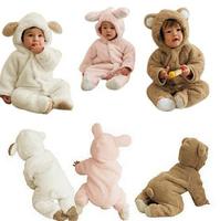 lovely Baby 0-24 month kids baby bear animal style newborn romper hat fluff jumpsuit bodysuit climb children long-sleeve  yr0007