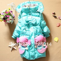 2013 Korean version of the new winter girls cute cartoon mermaid coat jacket