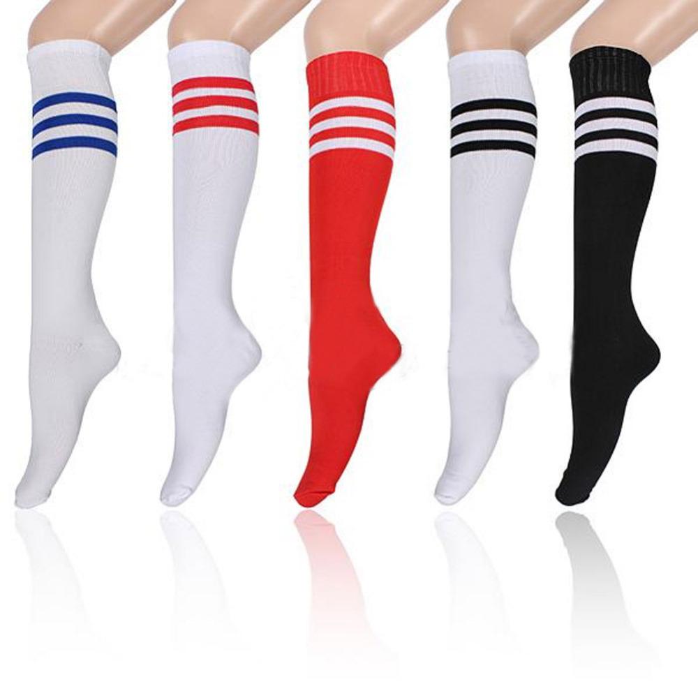 Hot Sale Unisex Stripe Soccer Baseball Football Basketball Sport Over Knee Ankle Men Women Socks Stockings 53325(China (Mainland))