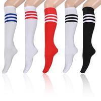 Hot Sale Unisex Stripe Soccer Baseball Football Basketball Sport Over Knee Ankle Men Women Socks Stockings 53325