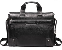 Casual genuine leather computer bags for men cowhide commercial briefcase men's computer handbag  laptop leather bags
