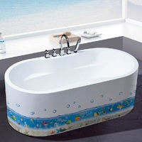 1 set 9*85 inch Waterproof PVC Sticker For Bathroom Bathtub Decor Sticker & Underwater World Decals For Bathroom Wall Decoration