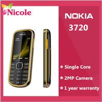 Original Retread Nokia 3720 classic Bluetooth FM JAVA 2MP 3720  Unlocked Mobile Phone Singapore Post Free Shipping