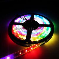 Magic Dream Color  5050 RGB LED Strip Light 5M 300LEDS WS2812B WS2811 Built Individual Addressable Waterproof  tube 5V DC