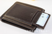11*9*1.5 CM 2013 New arrival man fashion genuine lether cowhide wallet male purse namecard credit card coffee black