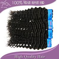 Indian Virgin Deep Wave Hair Grade 5A Human Hair Extensions 12''-28'' Mixed Length 4pcs/lot DHL Fast Free Shipping