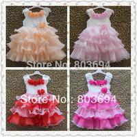 retail 2014 New Style Elegant dress ,girls' party dress,birthday gift,girl clothing 8890