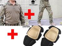 Emerson bdu G3 Combat uniform shirt & Pants with knee pads Emerson BDU Military Army uniform AOR2 EM8596 EM7049