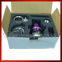 HIGH QUALITY Adjustable 60mm V Band External Waste Gate Wastegate With Flange Purple