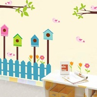 1 set 35*48 inch Transparent PVC Wallpaper Cartoon Wall Stickers For Childrens Party Decoration