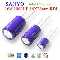 New Original 16V 1000UF 16x26mm 20% 16SA1000M Solid Capacitor Sanyo 50pcs/Bag