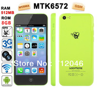 "New   MTK6572 Dual core  4.0""  Android 4.2 3G GPS Smartphone for 1:1 Phone 5C with Original Logo(S4 i9500 S3 i9300)phone"