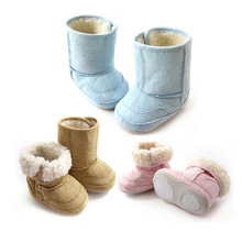 Baby winter  snow boots thermal berber Fleece thickening cotton-padded shoes for baby boys and girls B155(China (Mainland))