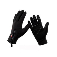 Black Ski gloves warm skiing and riding gloves Motorcycle gloves outdoor Wind and Waterproof cotton gloves