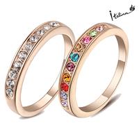 Real Italina Rigant Genuine Austria Crystal 18K gold Plated Rings for Women Enviromental Anti Allergies #RG91645