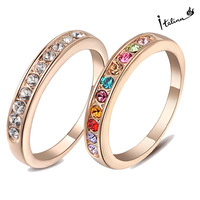 Real Italina Rigant Genuine Austria Crystal 18K gold Plated Rings for Women Enviromental Anti Allergies #RG91645