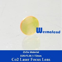 Best quality  5pcs/lot USA ZnSe material Co2 laser focus lens Dia20mm-FL38.1mm Free shipping