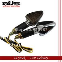BJ-SL-013L 2pcs X 12 V Long 18 SMD LEDs Turning Signal Light  amber color Indicator Light Silver housing for motorcycle