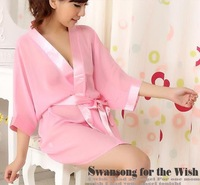 pink Nightgowns translucent women Sleepshirts
