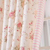 Rustic curtain fabric window screening small fresh curtain