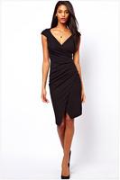 FREE SHIPPING 2014 New Sexy Fashion Women's Plus Size Slim Casual Dress Size MXXL NA6181