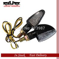 BJ-SL-014 2pcs X 12 V black housing motorcycle indicator Turning Signal 14 LED Light short for ATV