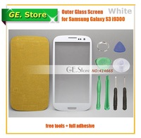 5 Pcs/Lot White Top Glass Digitizer LCD for Samsung Galaxy S3 SIII i9300 i535 L710 i747 T999 + Tools + Adhesive + Freeshipping