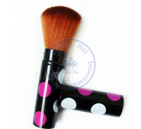portable retractable Blush brush dots professional hair Makeup cosmetics Powder tool aluminium tube whcn+