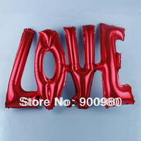 Free shipping LOVE Letter Foil Helium Balloon For Valentine's Day Helium Balloon Decoration