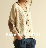 2013 winter new Korean female Korean yards loose knit cardigan sweater bottoming shirt
