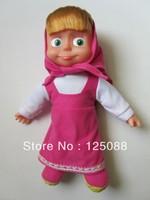 2013 new 26cm music Russia Masha girls doll Masha and bear cartoon action figure kids Birthday Christmas Gifts