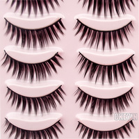 5 Pair Brown natural Thick Long  False Eyelashes Eyelash Makeup EyeLashes Voluminous