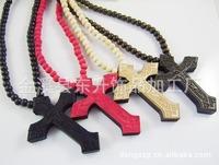 Wooden shelf wooden bead necklace pendant necklace wooden cross necklace GOODWOOD