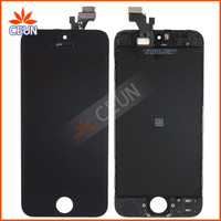20PCS/LOT LCD For iPhone 5 5G Free Fedex EMS DHL Ship with touch screen Full set Assembly White and black color