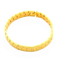 New Arrival Wholesale 24K Bracelet,24K Gold Plated Bracelet,Fashion Jewelry Bridal Yellow Gold Bangle Bracelet YHDH061