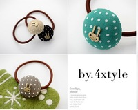 Accessories vintage rabbit dot hair rope tousheng hair accessory headband 1601