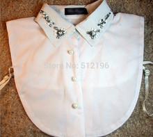 ANL0228, 3 Designs Shinning Gem Acrylic Butterfly Detachable Fake Collar White False Shirt Collar Necktie(China (Mainland))