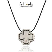 Artilady Four Leaf Clover Charms Necklace Luck Pendants Fashion Men Jewelry New Sale 2014