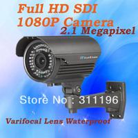 Security Camera 1080P HD-SDI 2.0 Megapixels Varifocal Lens 2.8-12mm 40m IR Vision WDR Waterproof CCTV Camera system