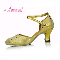 New style Latin dance shoes genuine leather dance shoes dance shoes square cowhide