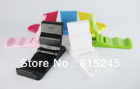10pcs/ lot, Wholesale Foldable Keychain Mobile phone Holder Stand for iPhone and all Phone Pad- Multi Color