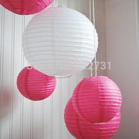 "Free Shipping 12""(30cm) Wedding Favor Round Decoration White Paper Lantern"