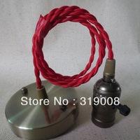 Vintage pendant light cord set ,E26/E27 ceiling lamp fixtures10pcs/lot  Via DHL Free Shipping