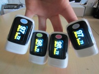 FDA CE finger pulse oximeter SPO2 PR oxygen monitor 5 colors + carrier case 100%warranty OLED 6 display modes FDA CE 5 pcs/lot