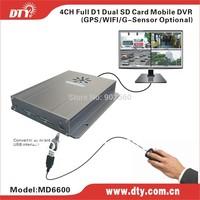 4ch dual sd card mini office surveillance dvr,MD6600 series